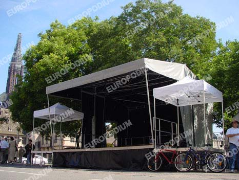 Covered Mobile Stage